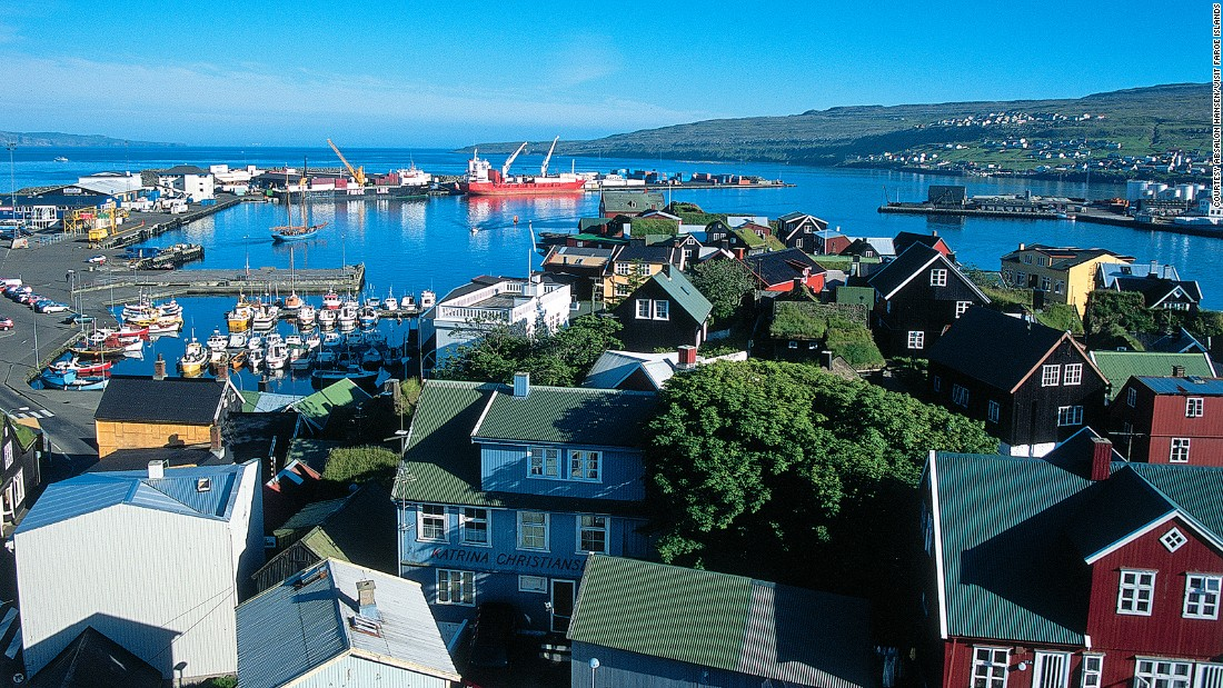 "The capital of Faroes is located on the largest and most populated island, Streymoy. <a href=""http://www.visitfaroeislands.com/meetings/about/torshavn/"" target=""_blank"">Torshavn</a> has just three sets of traffic lights and a stadium big enough to hold 10% of Faroes' population."