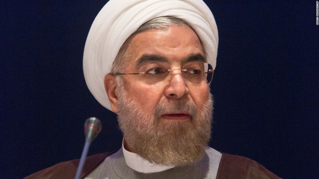 Iranian President Hassan Rouhani speaks in September during a news conference in New York.