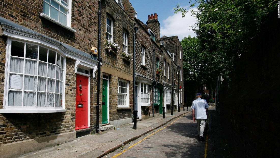 "Immortalized by the Kinks in their 1966 video for the song ""<a href=""https://www.youtube.com/watch?v=i0WPC-N3UYE"" target=""_blank"">Dead End Street</a>"", this is one of London's few intact Georgian streets: it hasn't changed much since 1780. The dozen houses in the cobblestone thoroughfare are protected historical buildings, but the land behind them is <a href=""http://www.littlegreenstreet.com/"" target=""_blank"">sought after by developers</a> to build a new gated complex, which would turn the delicate, 2.5 meter-wide street into a truck route."
