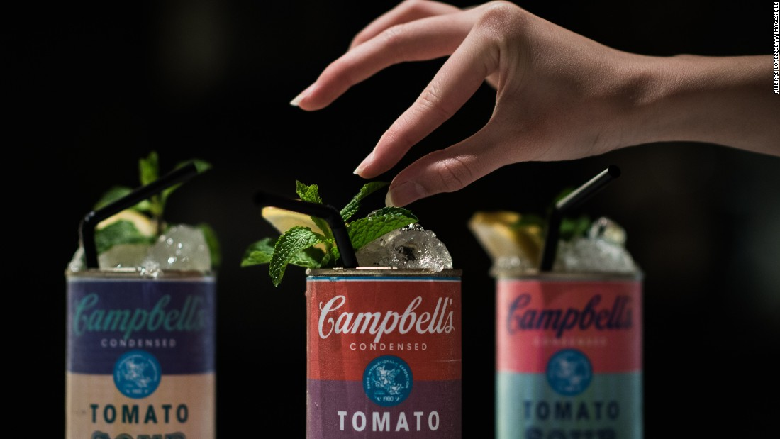 The city's restaurants and bars have also been inspired by Art Basel, creating cocktails served in Andy Warhol-esque soup cans.