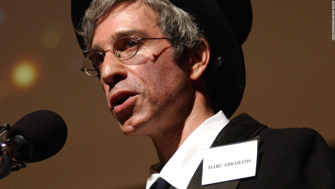 Marc Abrahams seen in his role as compere at the Ig Nobel prize-giving ceremony at Harvard University, Cambridge, Massachusetts.