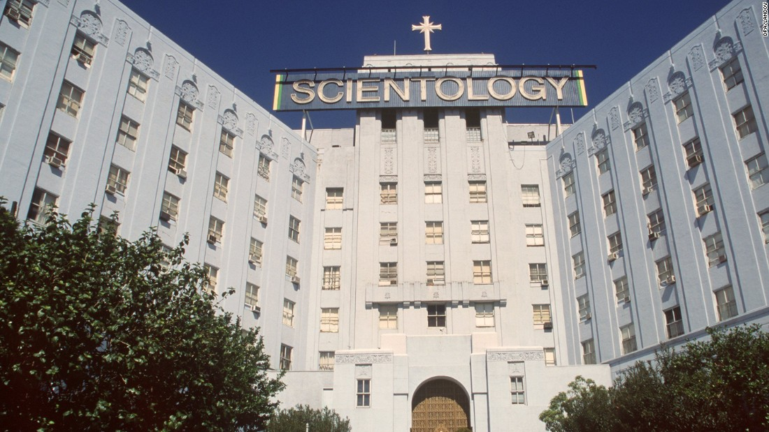 The entrance to the Los Angeles headquarters of the church in March 1998.