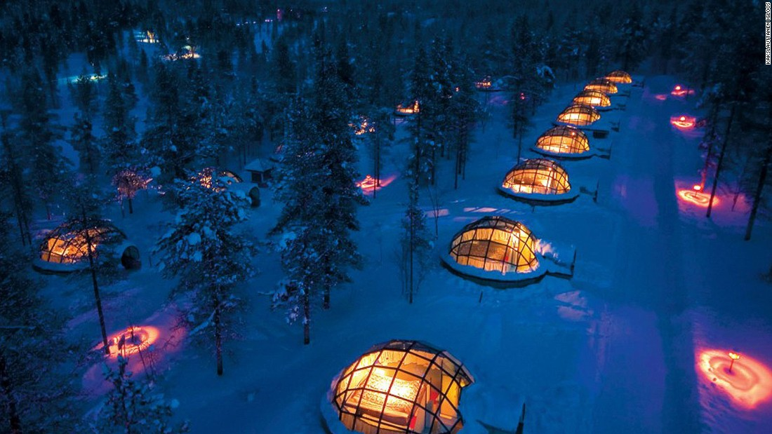 "Fifth-place Finland not only hosts <a href=""http://www.santaclausvillage.info/#show_mor"" target=""_blank"">Santa Claus</a> every day of the year (for real). It also has glass igloos at <a href=""http://www.kakslauttanen.fi/"" target=""_blank"">Kakslauttanen</a>, where (in season) you can enjoy the stunning Northern Lights."