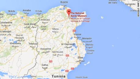 Map: Bardo Museum, Tunis, Tunisia.