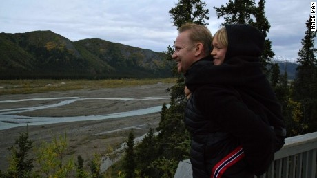 Morgan Spurlock with son, Laken, at Denali National Park
