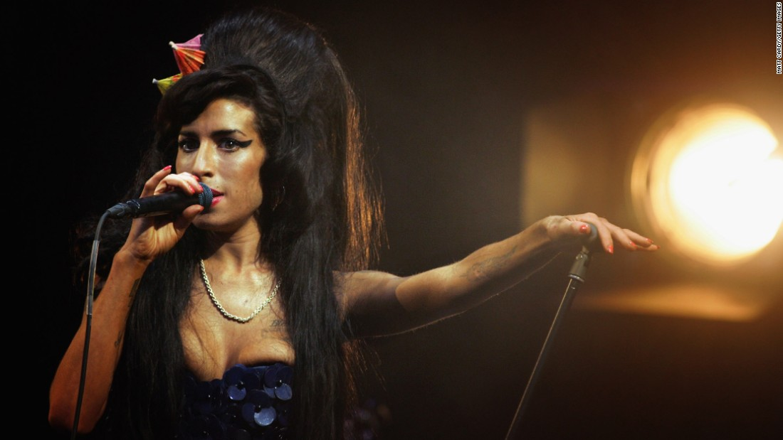 "British songstress Amy Winehouse was found dead in her London home in July 2011. The soulful singer, who openly struggled with <a href=""http://marquee.blogs.cnn.com/2011/09/12/mitch-winehouse-amy-hadnt-done-drugs-in-three-years/?iref=allsearch"" target=""_blank"">drug and alcohol abuse</a> during her career, <a href=""http://www.cnn.com/2013/01/08/showbiz/uk-amy-winehouse-inquest/index.html?iref=allsearch"" target=""_blank"">died of accidental alcohol poisoning</a>."