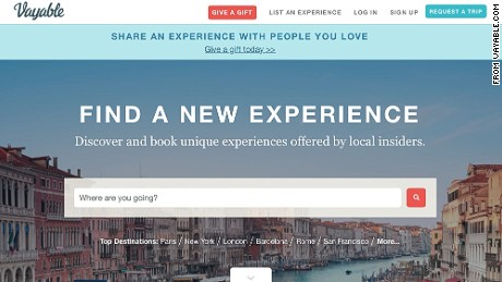 "Vayable lets travelers buy ""experiences"" from local insiders."