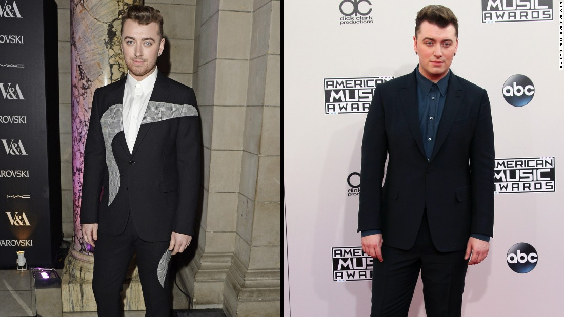 Singer Sam Smith is looking svelte these days (at left, arriving at an event March 14) and has credited nutritionist and author Amelia Freer with helping him change his diet and look.