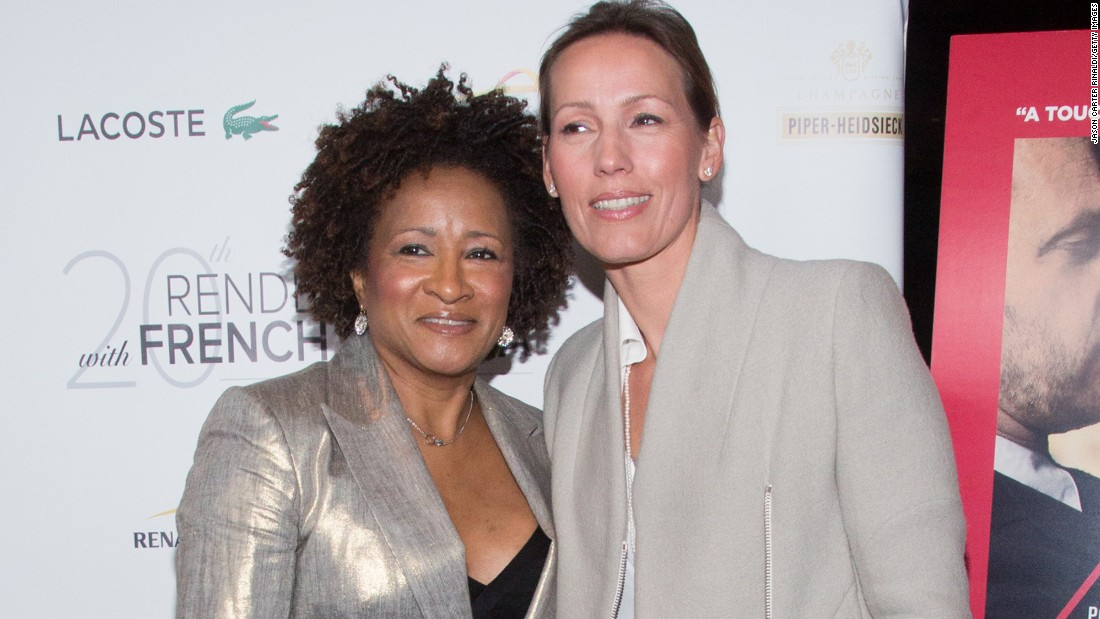 Comedian Wanda Sykes, left, and wife Alex Sykes have twins, a boy and a girl.