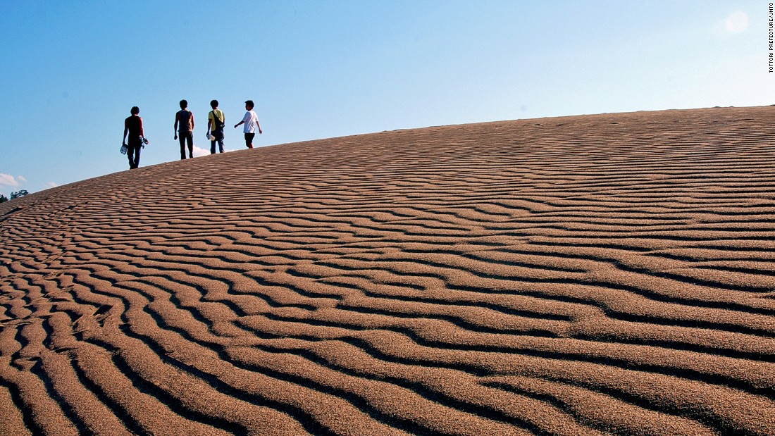 """Yes, there's a desert on Japan's islands. <br />The Tottori Sand Dunes span 16 kilometers long and two kilometers wide and are the only large sand hills in Japan. <br />The dunes are a blend of sand and volcanic ash mixed over a period of almost 100,000 years then shaped by winds from the Sea of Japan.<br />Part of the San'in Kaigan Geopark, they can be experienced via camel rides, dune buggies and sandboarding.<em><br /><a href=""""http://sanin-geo.jp/en/index_en.html"""" target=""""_blank"""">San'in Kaigan Geopark</em></a><em>, Tottori Sand Dunes, Tottori, Japan; +81 796 26 3783</em>"""