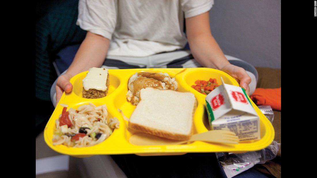 Meals from juvenile facilities around the country. Some facilities spend less than $2 a day per youth, Ross said.