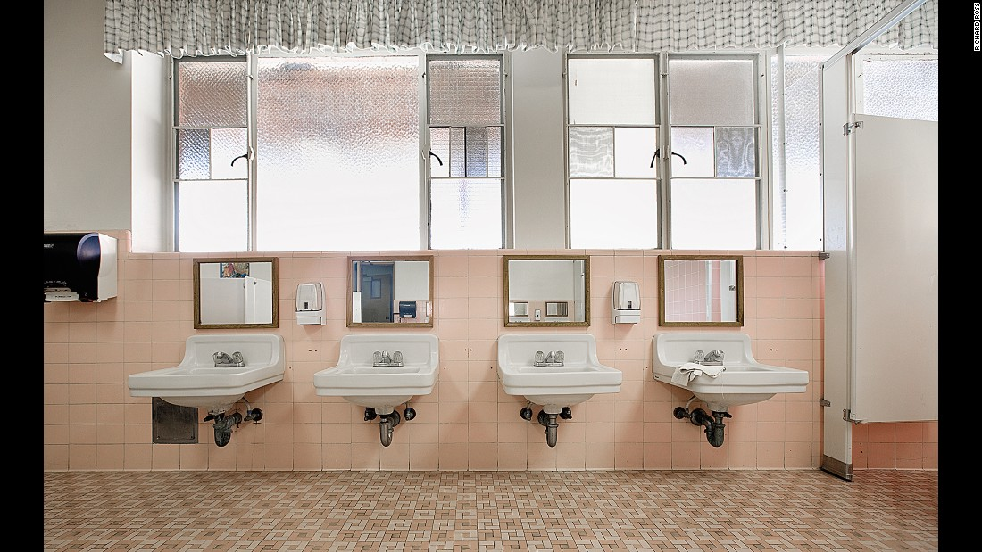 Inside a bathroom at Maryvale, an all-girls institution in Rosemead, California.