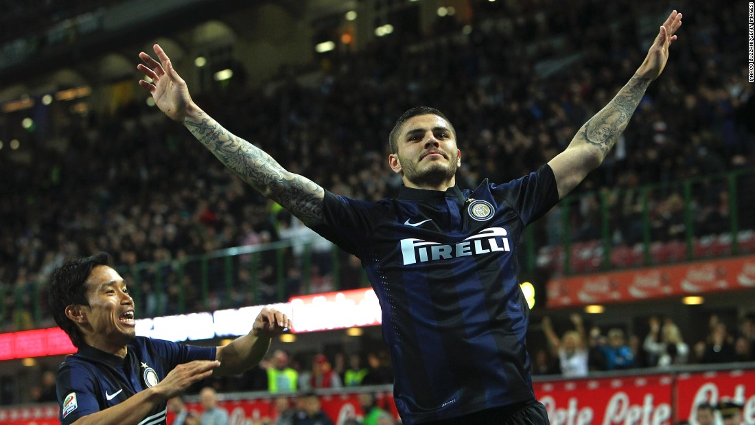 But for all the his off-pitch antics, Icardi continues to thrill on it. He has scored six goals in eight league appearances this season, and more in total for the Nerazzurri than Brazilian Ronaldo.
