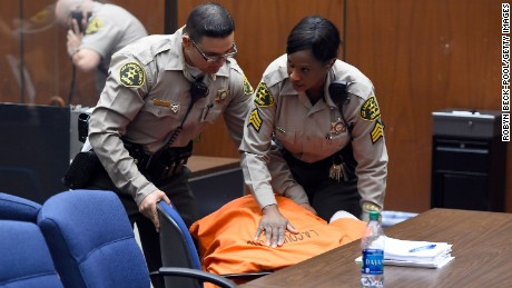 "LOS ANGELES, CA - MARCH 20:  Marion ""Suge"" Knight appears in court for his bail hearing at Criminal Courts Building on March 20, 2015 in Los Angeles, California.  Knight collapsed during the court proceedings.  Knight is charged with murder and attempted murder after a hit-and-run incident following an argument in a parking lot on January 29.  (Photo by Robyn Beck-Pool/Getty Images)"