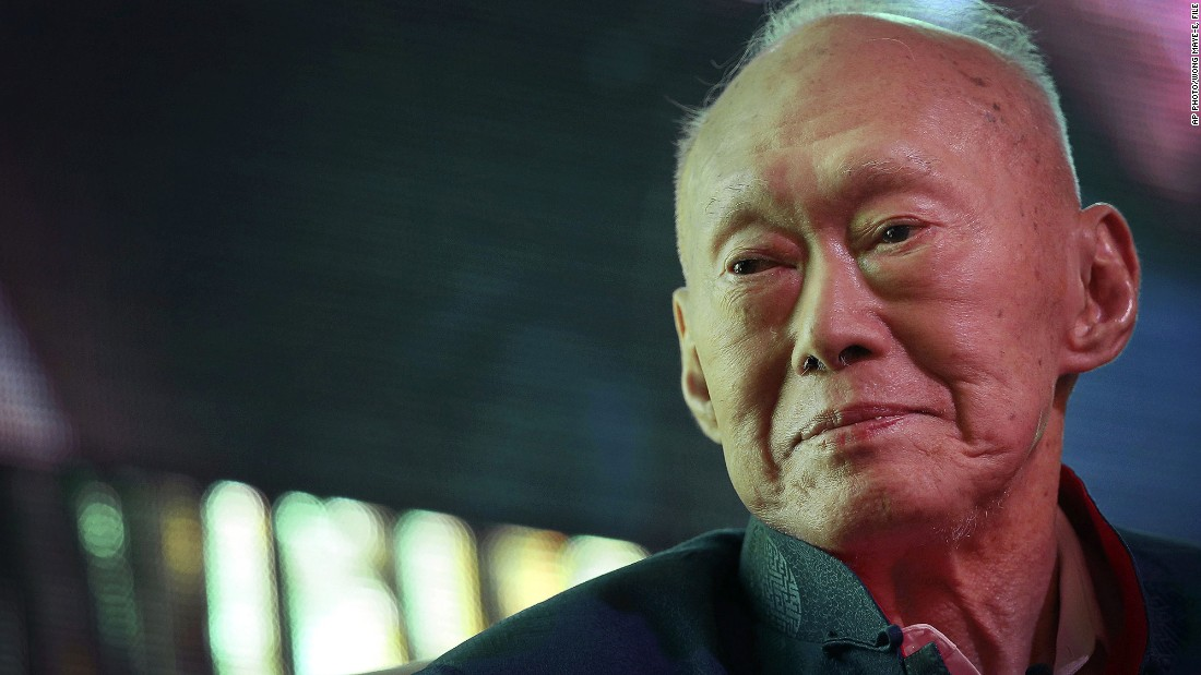 "Singapore's founding father <a href=""http://edition.cnn.com/2015/03/22/asia/singapore-lee-kuan-yew-obit/index.html"">Lee Kuan Yew</a> died on March 23, according to a statement released by the Prime Minister's office. He was 91. Lee, credited for transforming the colonial trading post into a prosperous financial center, was admitted to a hospital in February with severe pneumonia."