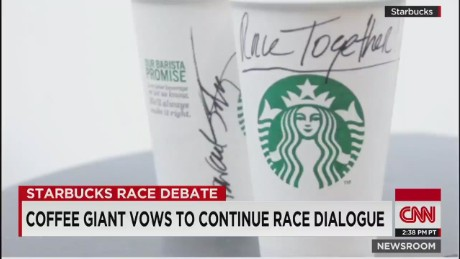 Starbucks continues #RaceTogether