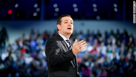 Sen. Ted Cruz, R-Texas speaks at Liberty University, founded by the late Rev. Jerry Falwell, Monday, March 23, 2015 in Lynchburg, Va., to announce his campaign for president. Cruz, who announced his candidacy on twitter in the early morning hours, is the first major candidate in the 2016 race for president. (AP Photo/Andrew Harnik)