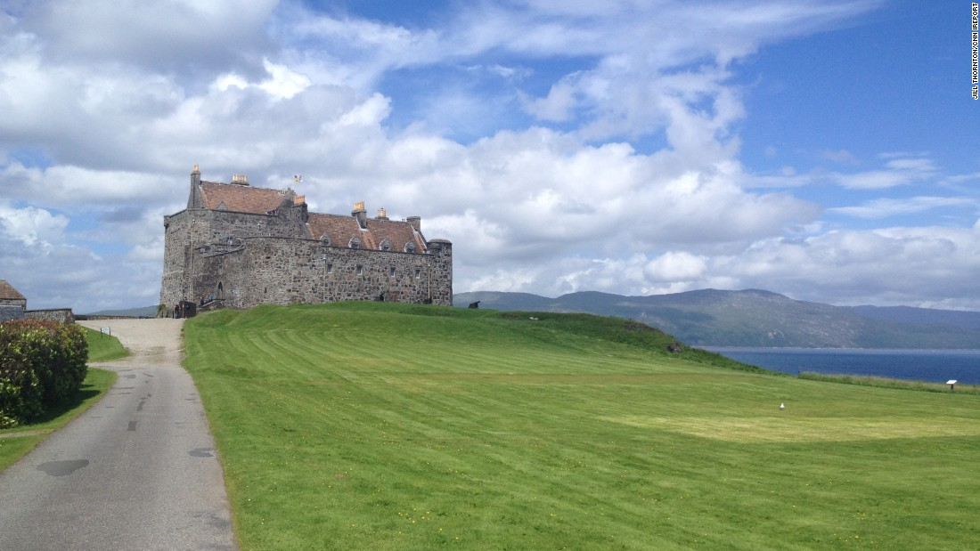 "Islands aren't all sand and sun. <a href=""http://ireport.cnn.com/docs/DOC-1220337"">Jill Thornton</a> shot this photo of Duart Castle, the centuries-old home of the Clan Maclean, on Scotland's scenic Isle of Mull. ""I figured I'd throw in a darker, more medieval kind of choice for a favorite island,"" Thornton wrote. She took the ferry from Oban on the west coast of Scotland out to Mull, which is in the second largest island of the Inner Hebrides."
