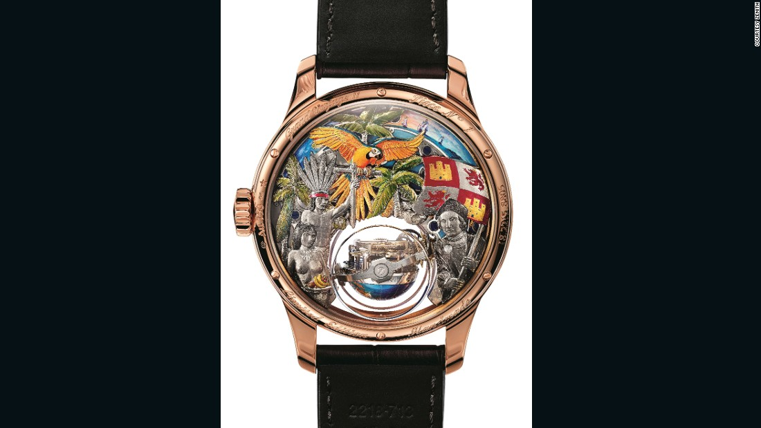 Zenith's Academy Christophe Colomb Hurricane Grand Voyage timepiece depicts the Italian explorer's adventures in the so-called New World.