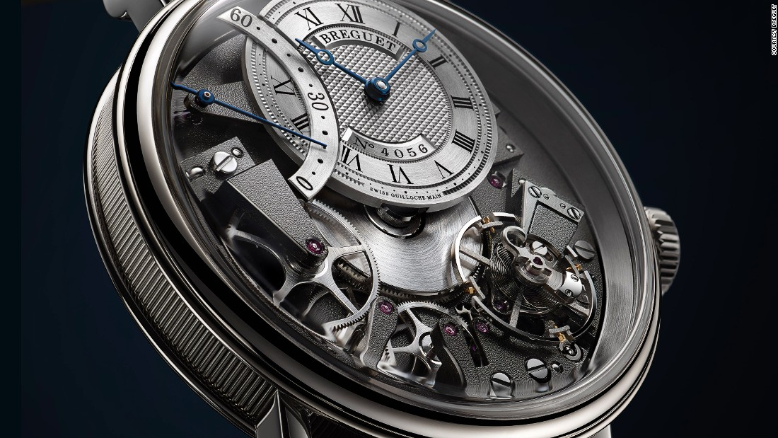 Breguet Tradition Automatique Seconde Rétrograde 7097, which was announced last year, made its formal debut at Baselworld. The inside-out design allows the wearer -- or admirer -- to see the watch's inner mechanisms in action.