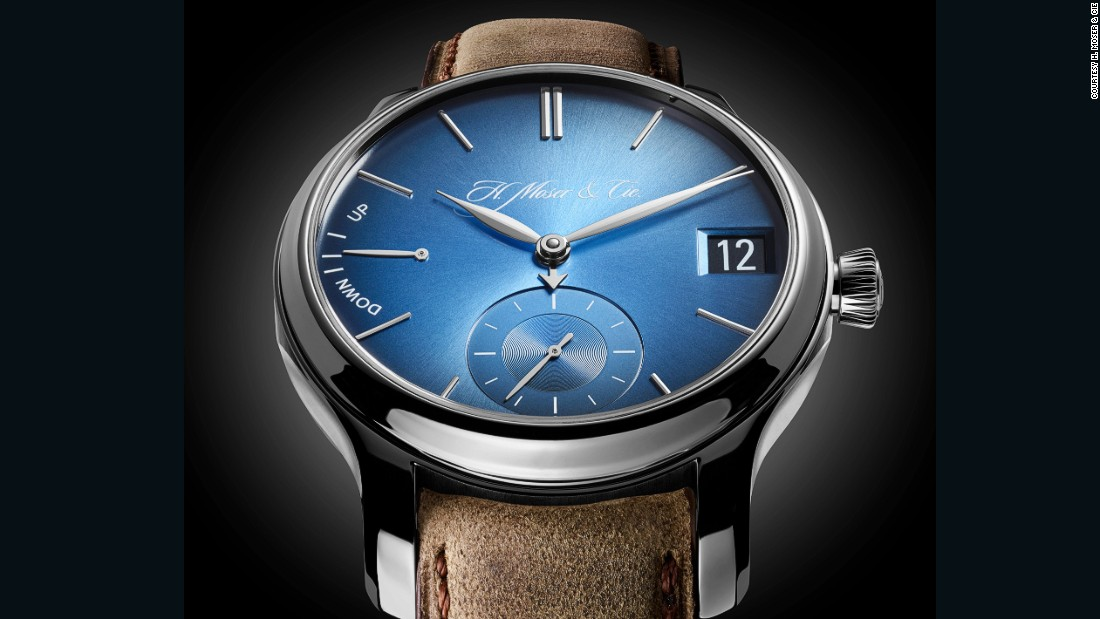 "In a nod to today's new technology, H. Moser & Cie branded Funky Blue the ultimate ""smart"" watch, extolling its virtues of not needing to be charged after 18 hours like Apple's."