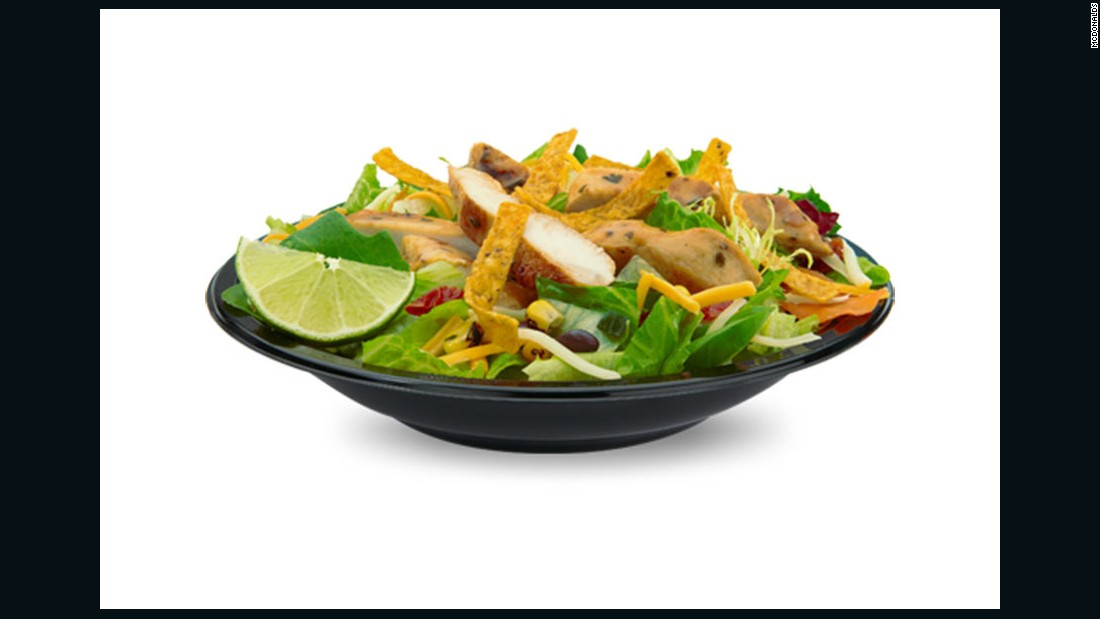 """I would have the Premium Southwest Salad with grilled Chicken. I would order that because I would get some veggies, 7 grams of fiber for fullness and would not go overboard on refined carbs (from the buns). I also like that it has 29 grams of protein as I generally strive to get 25-30 grams protein in all of my three main meals every day. <br /><br />It also has 320 calories, which means I can have a piece of fruit or something else as part of this lunch too."" <br /><br />-- <a href=""http://wwww.appforhealth.com/"" target=""_blank"">Julie Upton</a>, M.S., R.D., CSSD"