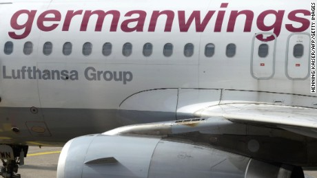 A plane of Lufthansa's low-cost subsidiary Germanwings is pictured on August 28, 2014 at Cologne's airport. Pilots of Lufthansa's low-cost subsidiary Germanwings are to strike on August 29 in pursuit of their demands for better early retirement provisions, their union announced on Thursday.    AFP PHOTO / DPA / HENNING KAISER /  GERMANY OUT        (Photo credit should read HENNING KAISER/AFP/Getty Images)