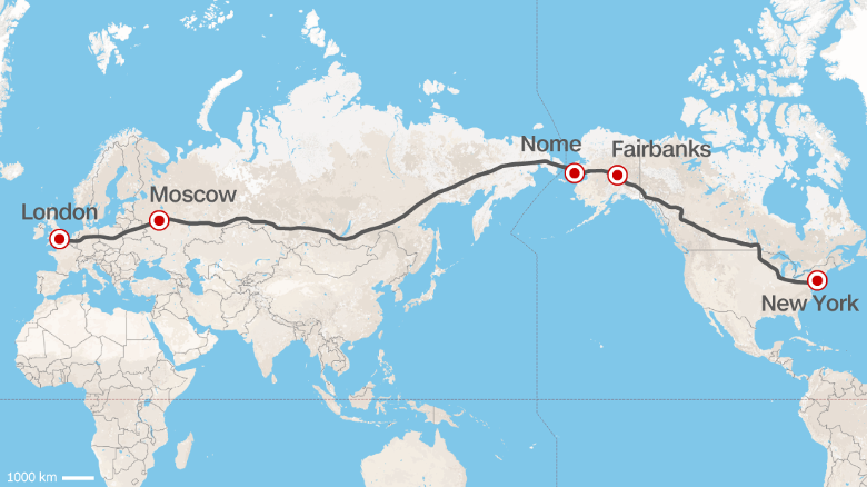 Road From Europe To US Russia Proposes Superhighway CNN Travel - Russia and us map