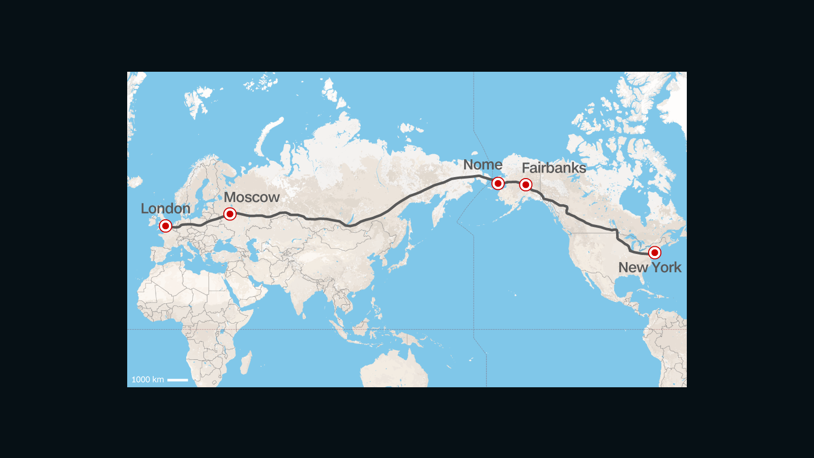 Road From Europe To US Russia Proposes Superhighway CNN Travel - Map usa states cities mileage