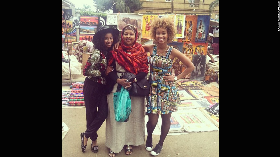 "The pair returned to the continent to shoot a music video recently. Here they are pictured at the Maasai Market in Nairobi, Kenya, with their mom. While the pair have a clear goal in mind, Iman says her older sibling has final say sometimes. ""Even though (Siham's) a year and a half older than me, she looks smaller but she's definitely the boss. And I'm always trying to do stuff and she'll shut me down."" And<a href=""https://instagram.com/p/zd6addBjSf/"" target=""_blank""> here's some proof in this Instagram blooper...</a>"
