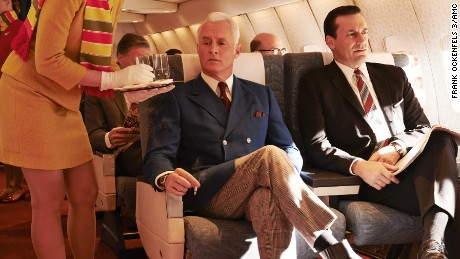 Roger Sterling (John Slattery) and Don Draper (Jon Hamm) - Mad Men _ Season 7, Gallery - Photo Credit: Frank Ockenfels 3/AMC
