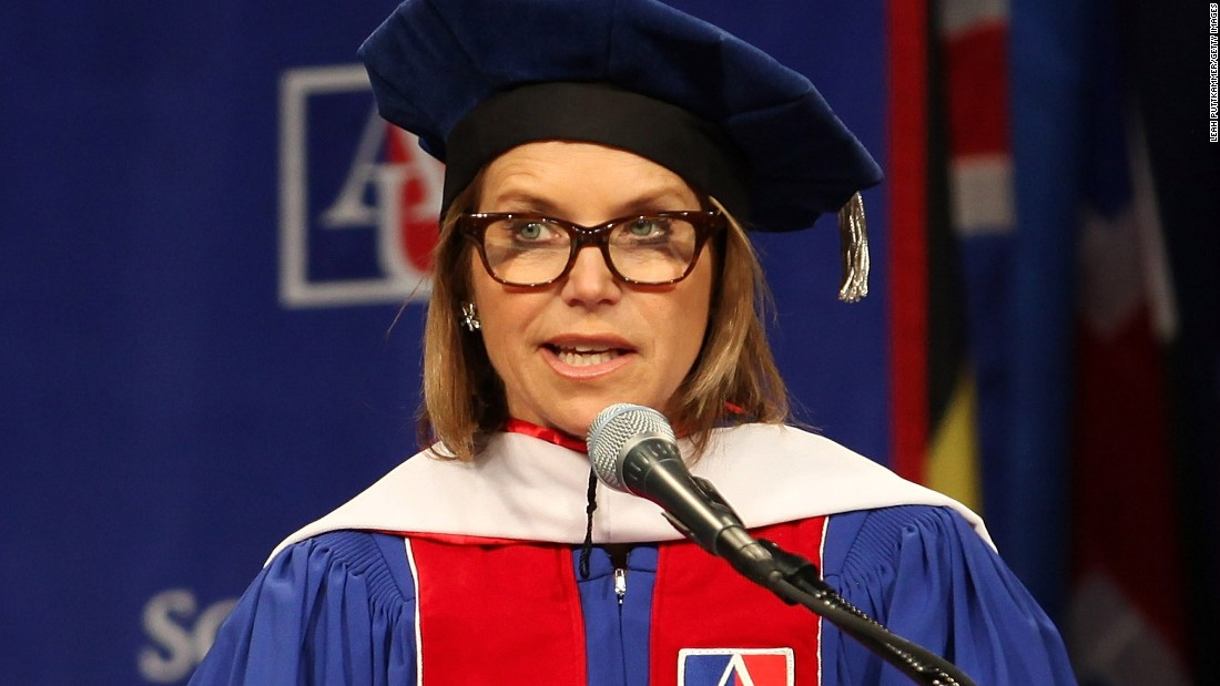 Journalist Katie Couric, shown at an earlier event, spoke to graduates of the University of Wisconsin in Madison on May 16.