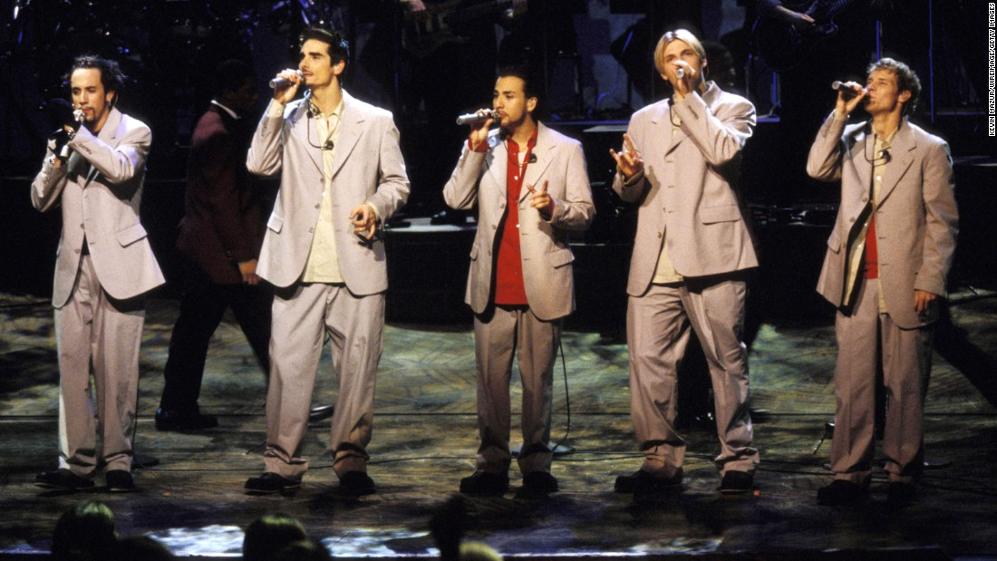 "In 1996, the Backstreet Boys released their debut album, ""Backstreet's Back."" ""Millennium,"" ""Black & Blue,"" ""Never Gone,"" ""Unbreakable"" and ""This Is Us"" followed. After parting with the group years ago, Kevin Richardson (second from left) rejoined A.J. McLean, Howie Dorough, Nick Carter and Brian Littrell. In March, they confirmed that they would be doing a limited Vegas residency as well as a new album and tour. Here are some other boy bands to scream over."