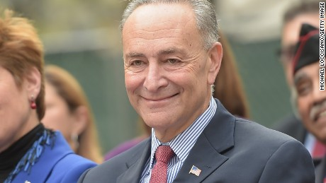 NEW YORK, NY - NOVEMBER 11: United States Senator Chuck Schumer takes part in the opening ceremony preceding the annual Veterans Day Parade, aka 'America's Parade' on November 11, 2014 in New York City. The parade, known to be our nation's largest event of it's kind, is themed 'Land of the Free/Home of the Brave', in honor of the 200th anniversary of the writing of the Star Spangled Banner. (Photo by Michael Loccisano/Getty Images)