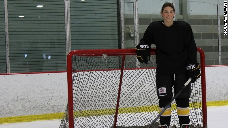 Hilary Knight is a member of the U.S. Olympic women's hockey team.