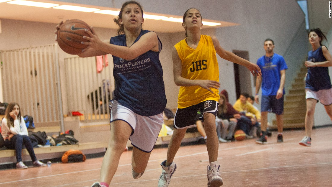 Over 50% of participants in the program are girls. Many of the Palestinian players have had to overcome cultural and political barriers to make it onto the basketball court.
