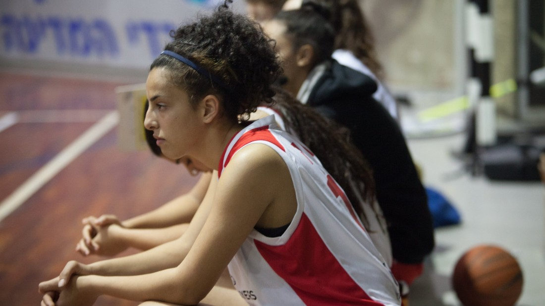 Duha, who lives in East Jerusalem, says basketball crosses cultural and language barriers. Since starting out at the age of six, she has now learned Hebrew and English.