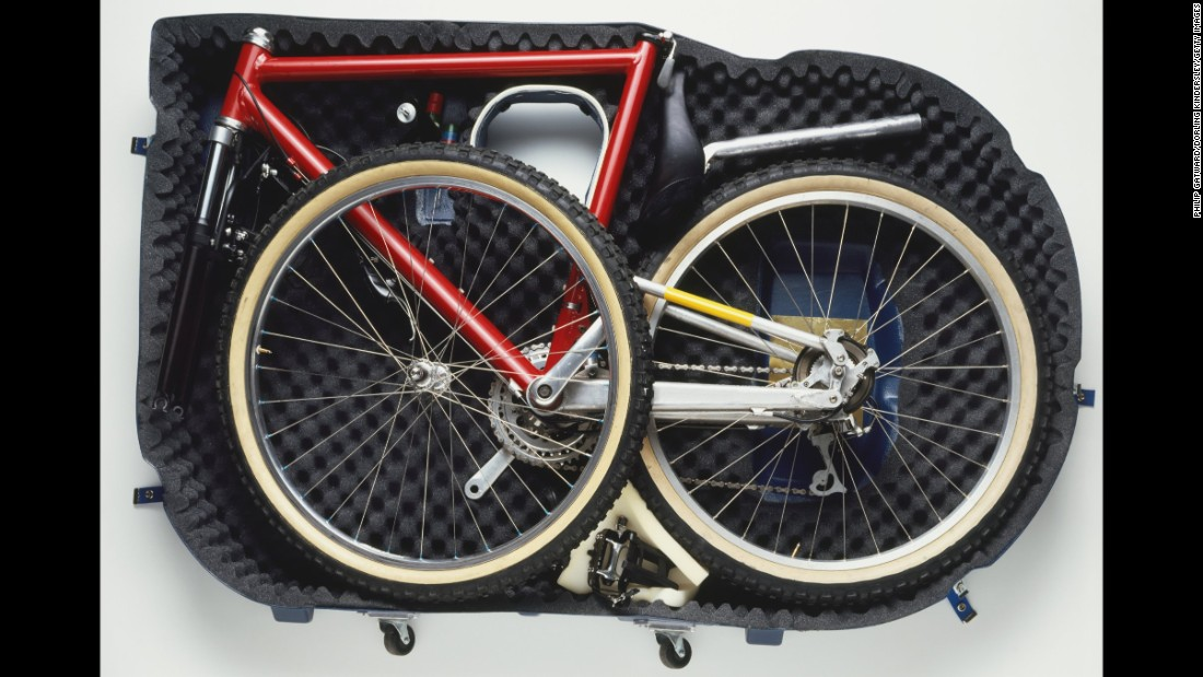 """<strong>A bicycle</strong>. <a href=""""http://help.jetblue.com/SRVS/CGI-BIN/webisapi.dll/,/?St=310,E=0000000000055963381,K=198,Sxi=5,Case=obj%282236%29"""" target=""""_blank"""">JetBlue will check your bicycle</a> for a fee of $50 each way on domestic and some international flights. The bike will count as one of your checked bags. Weight limits apply."""