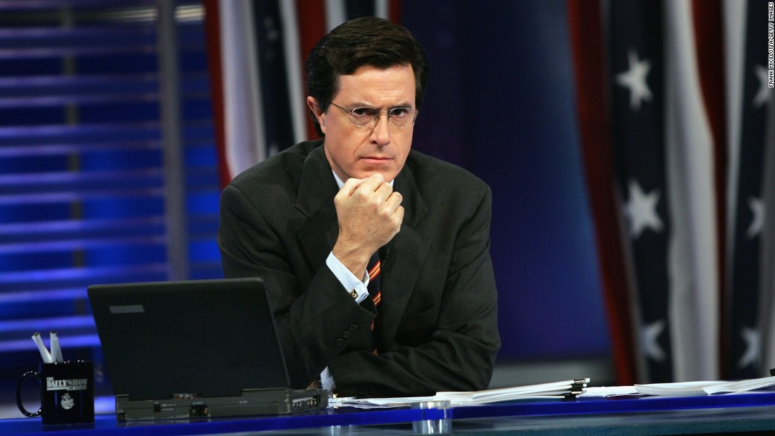 "After more than eight years as a ""Daily Show"" correspondent, Stephen Colbert left in 2005 to launch a spinoff built around his blustery, right-wing alter ego. Colbert wrapped his show in December 2014 and will drop his blowhard shtick to succeed David Letterman as the host of the ""Late Show"" on CBS when Letterman retires later this year."
