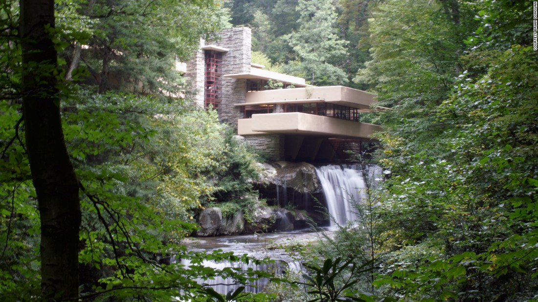 "<a href=""http://www.fallingwater.org/"" target=""_blank"">Fallingwater</a> is perhaps American architect Frank Lloyd Wright's best known building. It hovers poetically on top of a waterfall. The structure was so shocking when it was built in the 1930s that it landed on the cover of Time magazine."