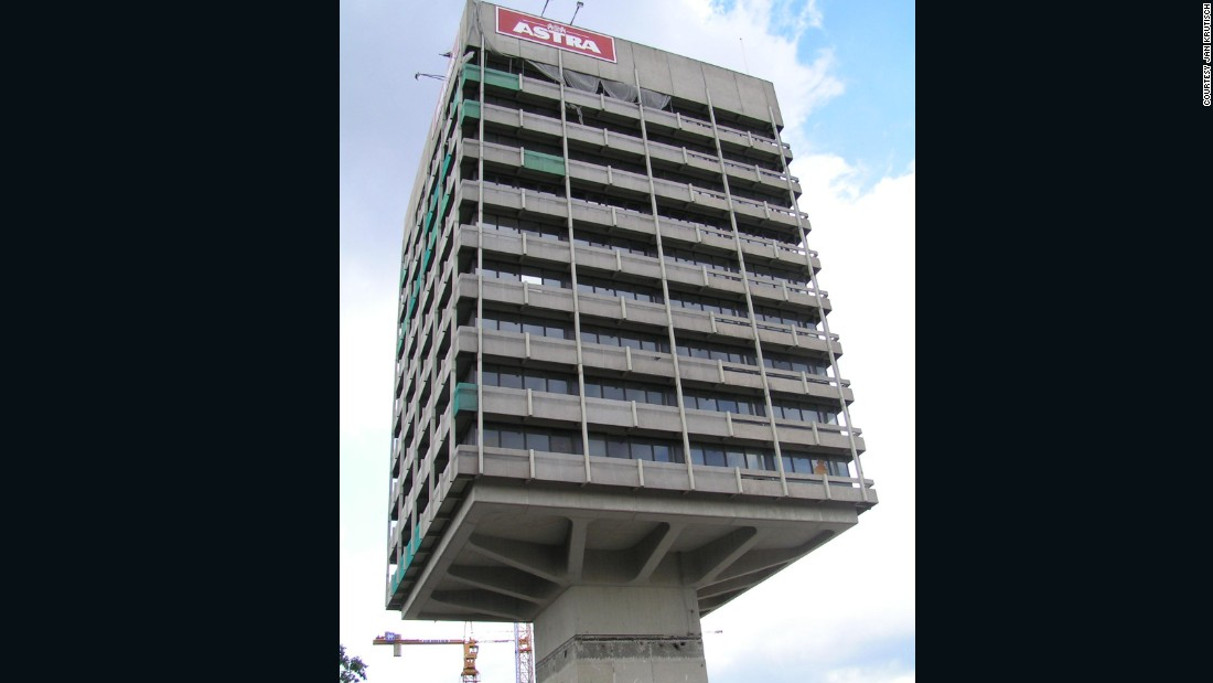 The Astra Tower in Hamburg housed the brewery that made Astra beer. The gravity defying landmark was eventually demolished and replaced by a less exciting generic office tower.