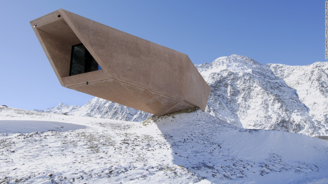"Located along a mountain pass on the Austrian-Italian border at the height of 2,509 meters, this<a href=""http://www.timmelsjoch.com/en/extras/news/group/10000/overview.aspx"" target=""_blank""> stunning museum</a> illustrates the history of the pass and the nearby road. Its open ended structure is a reminder of the function of the surrounding area, which connects two nations."