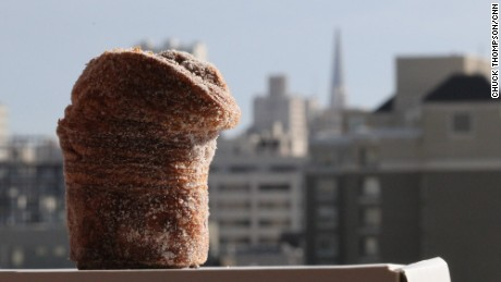 San Francisco icons: Cruffin and Transamerica Pyramid Center.