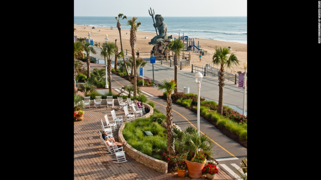 <strong>Virginia Beach, Virginia</strong>. Enjoy live music at Neptune Park in the summertime, and make sure to take a photo in front of the bronze statue of King Neptune.<br />