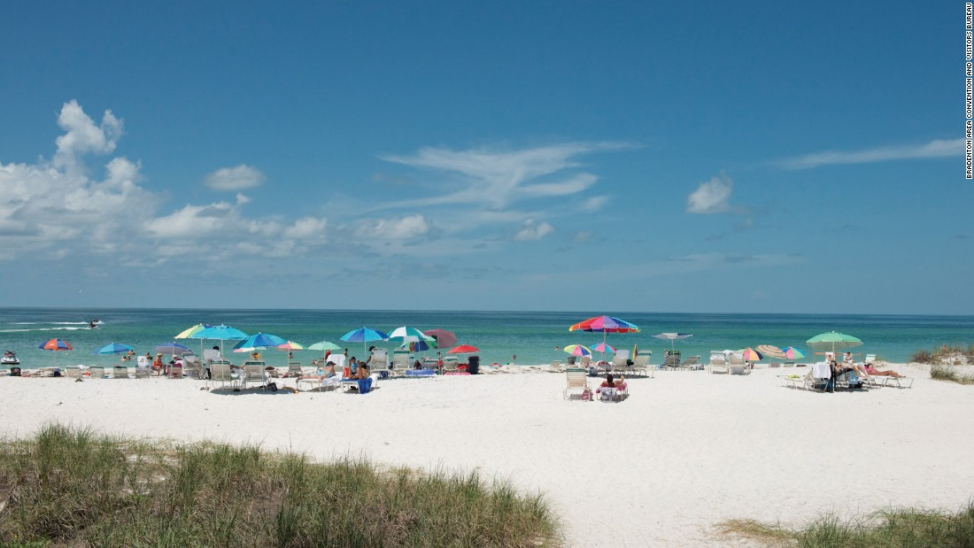 <strong>Manatee County Beach, Florida.</strong> A trolley stops at this beach, located on Holmes Beach, in the center of Anna Maria Island. There's a playground in addition to the expected family-friendly showers, parking and picnic facilities.