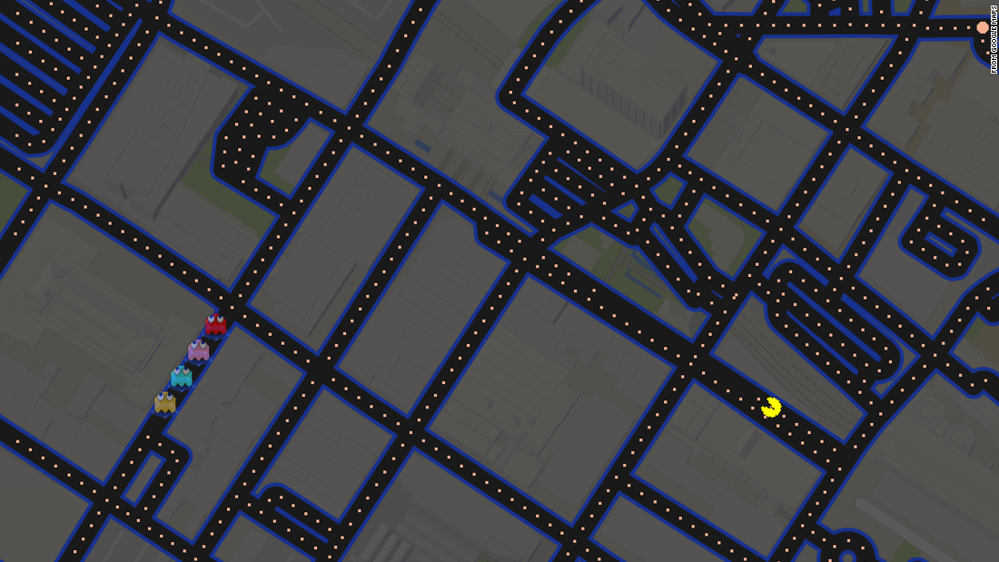 "<a href=""https://www.google.com/maps"" target=""_blank"">Google Maps</a> added a button that let users turn city maps into playable Pac-Man mazes."