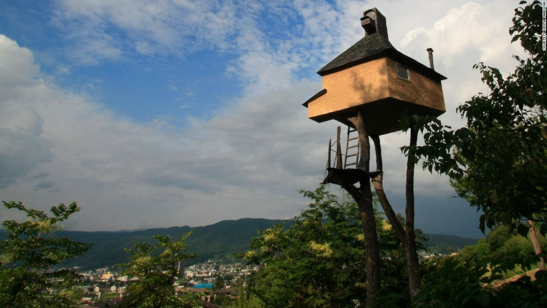 "The ""Too High Teahouse"" was also created by architect <a href=""http://en.wikipedia.org/wiki/Terunobu_Fujimori"" target=""_blank"">Terunobu Fujimori</a>, who took inspiration from traditional Japanese teahouses. He represented Japan at the 2006 Venice Biennale."