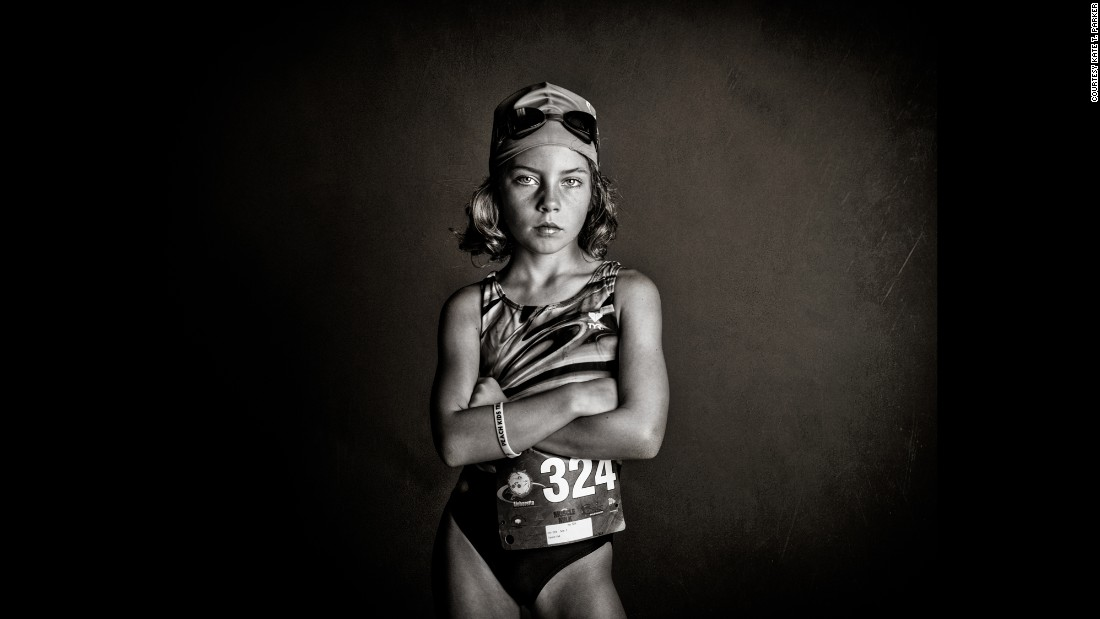 "Photographer Kate Parker's project ""Strong is the New Pretty"" reveals her two daughters and their friends as they discover who they are -- which is often messy, loud, excited, intense and always strong. Parker shot this image of her daughter, Ella, the night before her first triathlon, when she was feeling nervous. Parker wanted to show her that even when she's afraid, she's strong."
