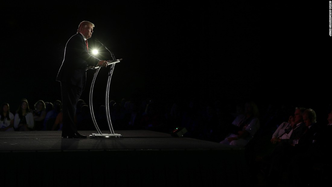 As chairman and president of the Trump Organization and the founder of Trump Entertainment Resorts, Trump speaks during day two of the Republican Leadership Conference on May 30, 2014, in New Orleans.