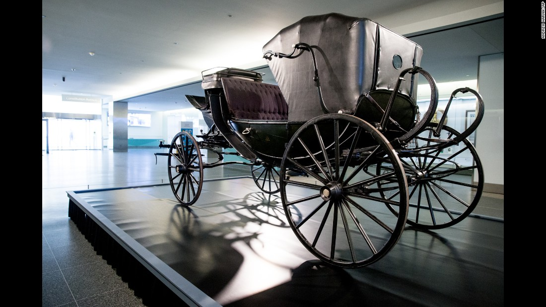 "The Smithsonian's National Museum of American History has partnered with Ford's Theatre to display (through May 25) the carriage in which the Lincolns and their guests rode on April 14, 1865. The carriage is on loan from the <a href=""http://www.studebakermuseum.org/p/whats-happening/exhibits/the-presidential-carriage-collection/"" target=""_blank"">Studebaker National Museum</a>. The open barouche model was built by Wood Brothers in 1864 and presented to the President by a group of New York merchants shortly before Lincoln's second inauguration."